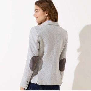 NWT Loft Grey Blazer w/ Suede Elbow Patches